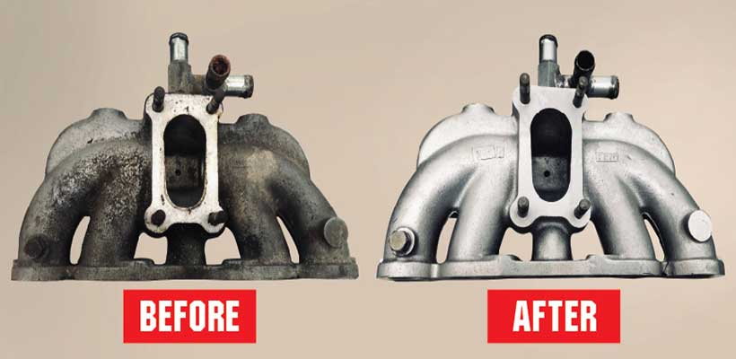 Vapour Blasting Before & After